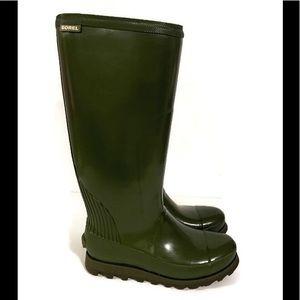 Sore Joan Rain Tall Gloss Waterproof Green
